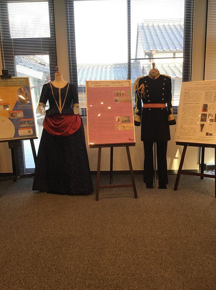 画像:大礼服、女性用ドレス(鹿鳴館の舞踏会ドレス)の試着体験について
